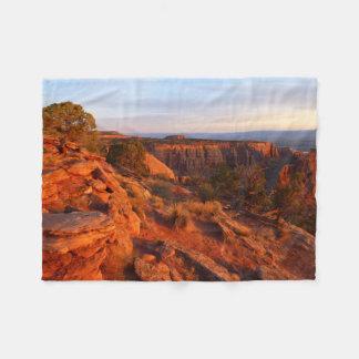 Cobertor De Velo Nascer do sol na fuga grande da vista no monumento