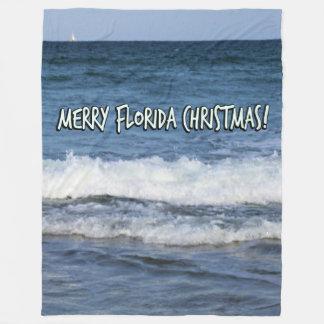Cobertor De Velo Natal alegre de Florida sobre o oceano