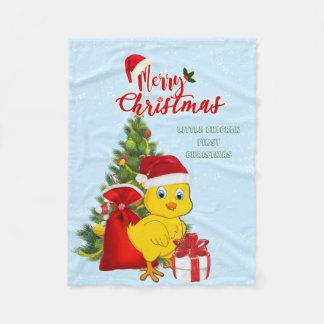 Cobertor De Velo Natal pequeno da galinha do bebê