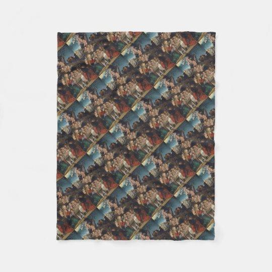 Cobertor De Velo Natividade que caracteriza querubins