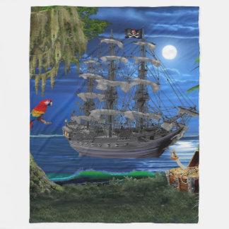 Cobertor De Velo Navio de pirata enluarada Mystical