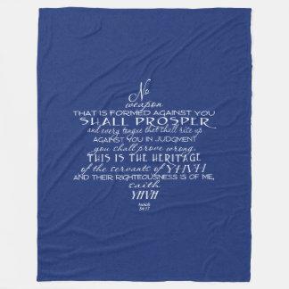 Cobertor De Velo Nenhum azul da estrela de David da arma