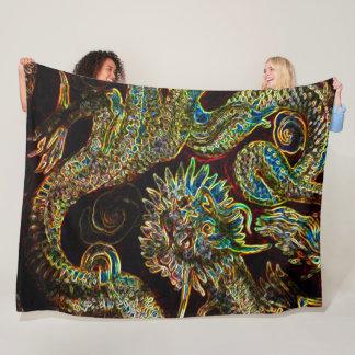 Cobertor De Velo Néon chinês do dragão do imperador