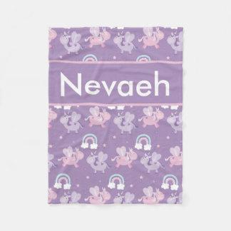 Cobertor De Velo Nevaehs personalizou a cobertura do unicórnio