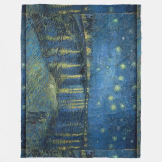 Cobertor De Velo Noite estrelado sobre o Rhone Vincent van Gogh