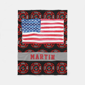 Cobertor De Velo Nome da bandeira dos EUA da cruz maltesa do
