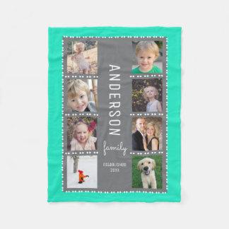 Cobertor De Velo Nome de família da colagem da foto das cinzas & da