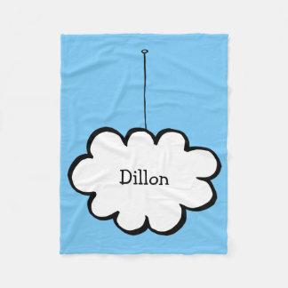 Cobertor De Velo Nuvem personalizada em uma corda
