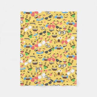 Cobertor De Velo o amor bonito do emoji ouve o teste padrão do riso