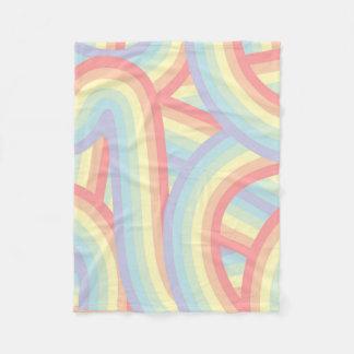 Cobertor De Velo O arco-íris Pastel boémio listra o teste padrão