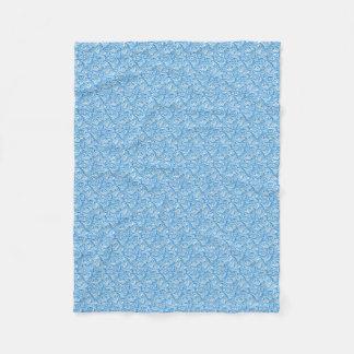 Cobertor De Velo O azul acena a cobertura