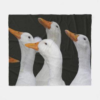 Cobertor De Velo O branco Ducks a foto