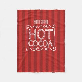 Cobertor De Velo O cacau quente com listras vermelhas adiciona seu