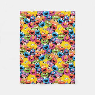 Cobertor De Velo O caráter do Sesame Street enfrenta o teste padrão