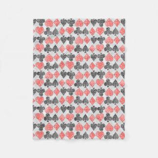 Cobertor De Velo O cartão vermelho do damasco sere o clube da pá do