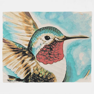 Cobertor De Velo O colibri bonito da costela