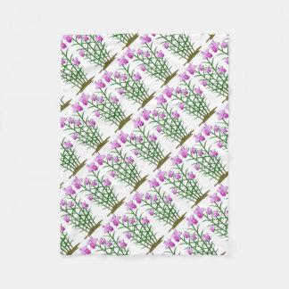 Cobertor De Velo O costume floral das flores personaliza