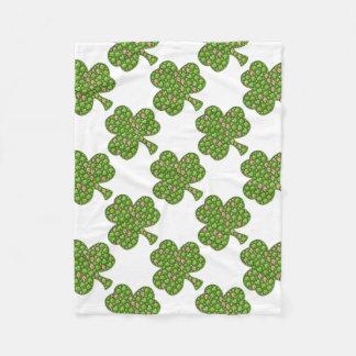 Cobertor De Velo O dia de St Patrick da cerveja do trevo do trevo,