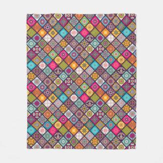 Cobertor De Velo O diamante colorido telhou o teste padrão floral