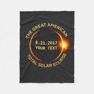 Cobertor De Velo O eclipse solar total 8.21.2017 EUA adiciona seu