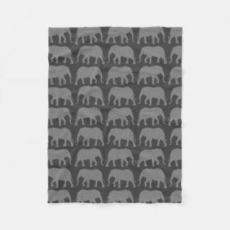 Cobertor De Velo O elefante africano mostra em silhueta o teste