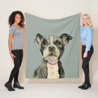 """Cobertor De Velo O """"filhote de cachorro Eyes"""" a pintura da aguarela"""