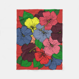 Cobertor De Velo O hibiscus colorido floresce o Dr. #2