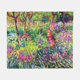 Cobertor De Velo O jardim da íris em Giverny por Claude Monet