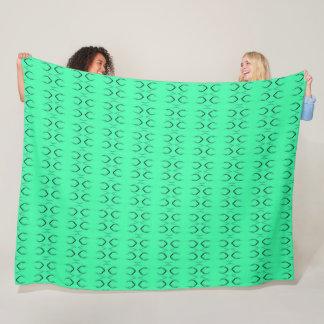 Cobertor De Velo O lagarto verde Groovy escala o teste padrão do