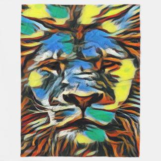 Cobertor De Velo O leão acrílico colorido o mais popular da arte de
