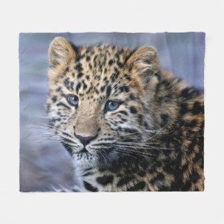 Cobertor De Velo O leopardo Cub tosa a cobertura