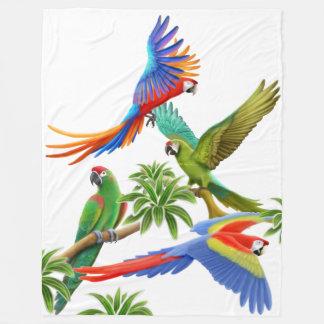 Cobertor De Velo O Macaw tropical repete mecanicamente a cobertura