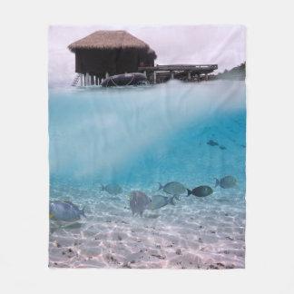 Cobertor De Velo O mar azul tropical de Maldives aventura-se os