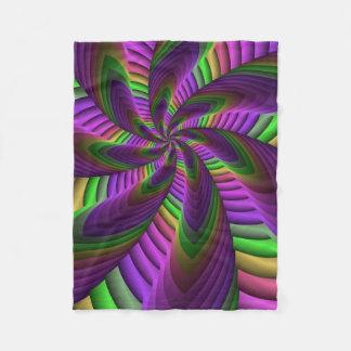 Cobertor De Velo O néon colore o teste padrão colorido louco