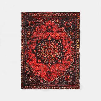 Cobertor De Velo O olhar do tapete persa no rosa matizou o campo