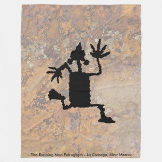 Cobertor De Velo O Petroglyph Running do homem