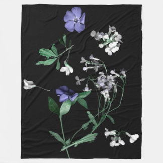 Cobertor De Velo O primavera floresce na cobertura preta do velo,