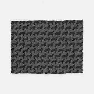 Cobertor De Velo O Retriever revestido liso mostra em silhueta o