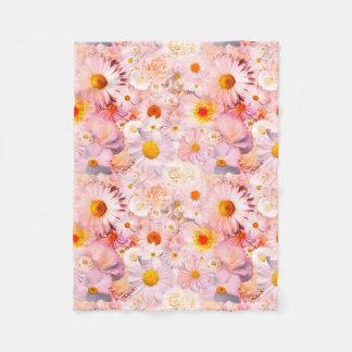 Cobertor De Velo O rosa floresce o primavera nupcial do casamento