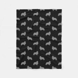 Cobertor De Velo O Sheepdog de Shetland mostra em silhueta o teste