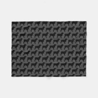 Cobertor De Velo O Spaniel de Boykin mostra em silhueta o teste