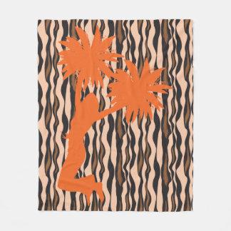 Cobertor De Velo O tigre do elogio de Pom Pom listra o velo do