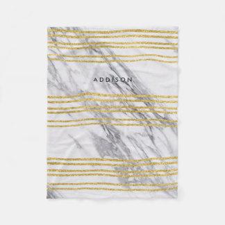 Cobertor De Velo O velo cobre o mármore com as linhas do ouro