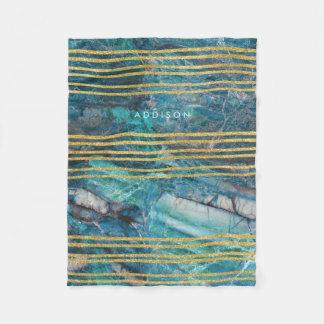 Cobertor De Velo O velo cobre o mármore verde com as linhas do ouro
