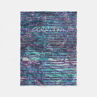 Cobertor De Velo O velo cobre o mármore verde com as linhas roxas