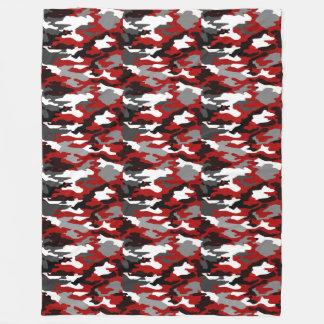 Cobertor De Velo O vermelho sombreia Camo