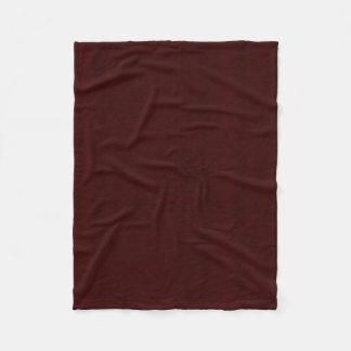 Cobertor De Velo Obscuridade marrom Marsala do olhar de veludo da