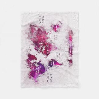Cobertor De Velo OCEANOS e continentes do mapa do mundo