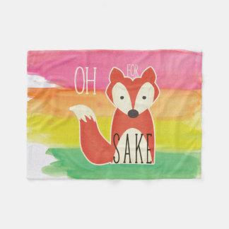 Cobertor De Velo Oh para listras da aguarela da causa do Fox