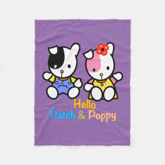 Cobertor De Velo Olá! remendo e papoila